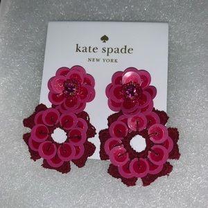 NWT Kate Spade Posy Grove Sequin Drop Earrings